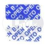 6001 Etiketė atidaryta open mėlyna